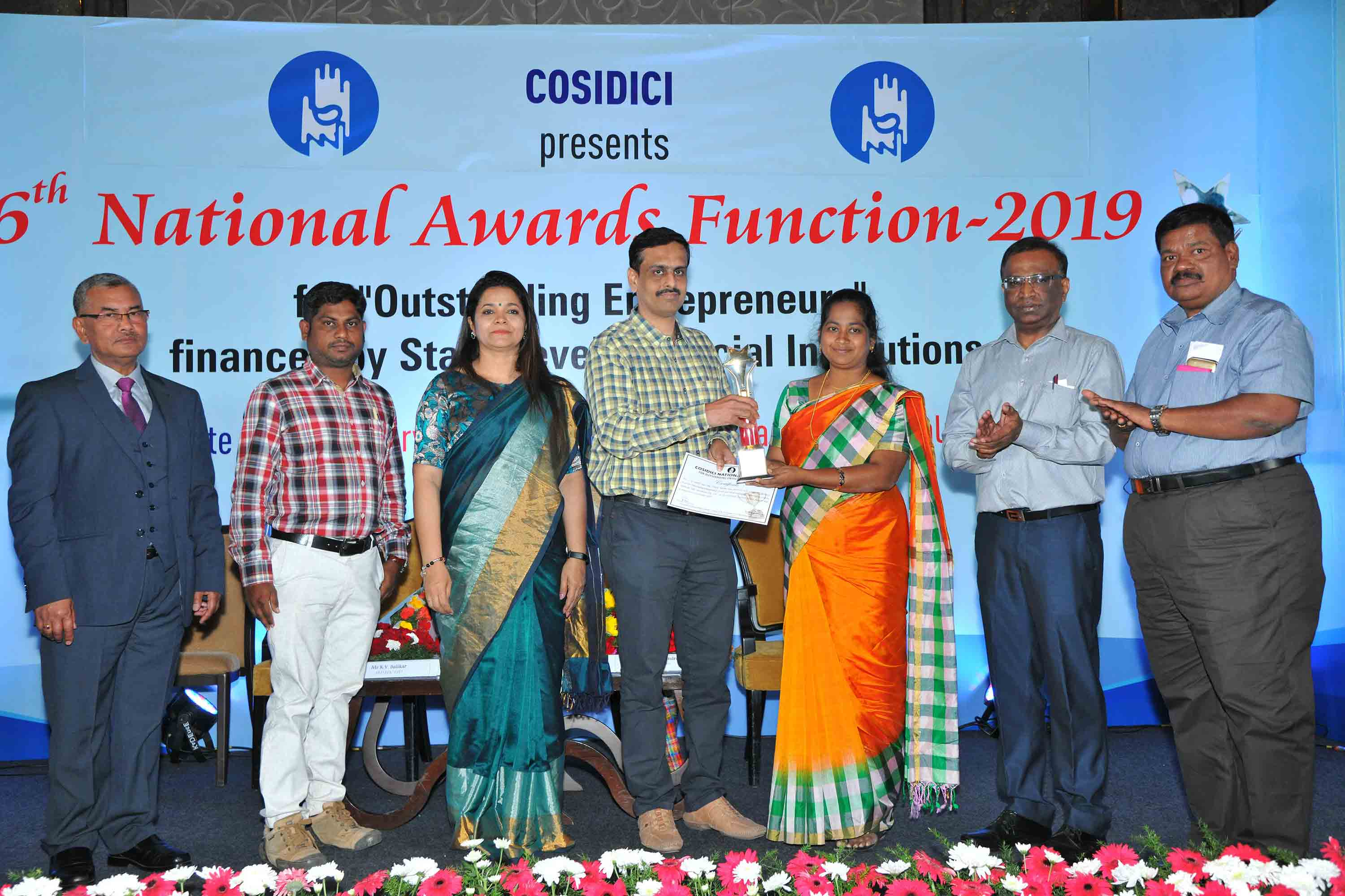 - Promoter of World Innovation Technologies, Coimbatore, receiving Best Women Entrepreneur Award from COSIDICI during its National Awards 2019 Program held at Bengaluru